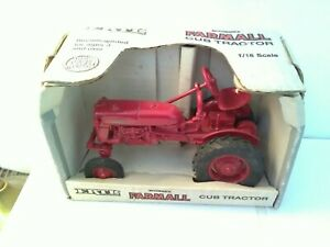 Vintage Farm McCormick Farmall Cub Tractor 1/16 Scale Never Out Of The Box  Just