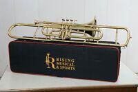 Brass Trombone 3 Valve Bb Pro Marching Band Master's Choice FAST SHIP !!