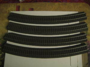 Used Lot of 4 Marklin H0 24530 Curved C Track Section from layout - LN