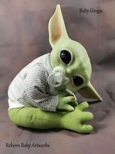 "Baby Yoda ""Grogu""  20"" *New* Olive Doe Suede Body  **Next Working Day Dispatch**"