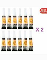 12x XTRA STRONG SUPER GLUE -All Purpose Adhesive Bond Glass Rubber Plastic Paper