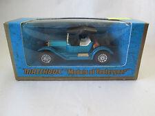 1973 Matchbox Models of Yesteryear Blue 1914 Stutz Roadster 1:48 Car Y-8 NIB