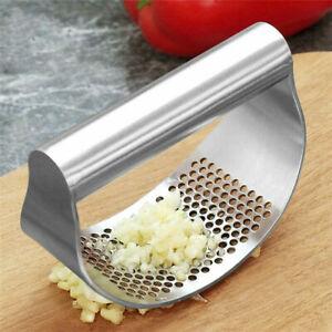 Steel Manual Garlic Press Crusher Squeezer Masher Kitchen Tool 2020