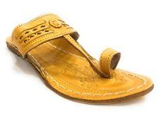 US Ladies Kolhapuri Chappal Indian Jutti Flat Shoes Ethnic Flipflop Mojari SS199