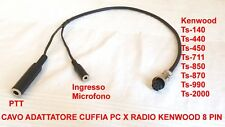 CAVO ADATTATORE DA CUFFIA PC A RADIO KENWOOD TS-2000 TS-450 TS-990 TS-140 TS870