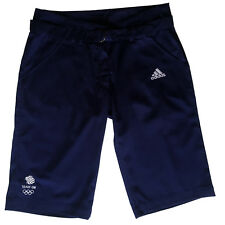 ADIDAS TEAM GB ISSUE RIO 2016 ELITE ATHLETE LADIES NAVY BLUE SHORTS Size S 28""
