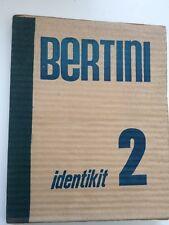 Gianni Bertini IDENTIKIT 2 Dédicace signé Sérigraphie Multiple Livre d'artiste