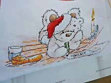 [1540]X Stitch Chart-Lickle Ted Dear Santa, Writing Xmas Letter