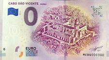 BILLET 0 EURO CABO SAO VICENTE SAGRES PORTUGAL  2019-2  NUMERO  300