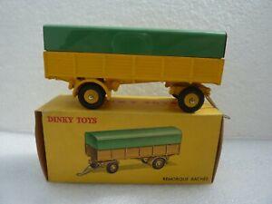 DINKY TOYS FRANCE 70 REMORQUE BACHEE JAUNE TRES BON ETAT + BOITE D ORIGINE