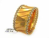 22 Kt Solid Yellow Gold Dubai Slip-On Bracelet Bangle Fine Jewelry 61.800 Grams