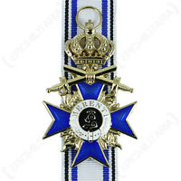 BAVARIAN MILITARY SERVICE ORDER WITH CROWN - GOLD - Repro WW1 Military Medal