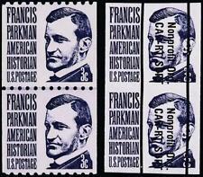 USA 1975 FRANCIS PARKMAN imperf.ERROR+JOINT LINE PAIR SC#1297b+c MNH CV$70.50