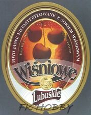 Poland Brewery Witnica Wiśniowe Beer Label Bieretikett Cerveza wi123.1