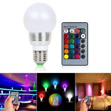 E27 RGB LED Lamp 3W 16 Colors Changing Magic Night Light Bulb IR Remote Control