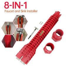 MultiFunction Water Pipe Wrench Faucet Under Sink Installer Tool Plumbing 8 in1