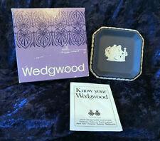 Wedgwood Sweet Dish Square Jasper (Portland Blue) England w/box!