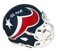DESHAUN WATSON AUTOGRAPHED SIGNED HOUSTON TEXANS AMP SPEED MINI HELMET BECKETT