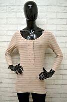 Maglia MAISON SCOTCH Donna Taglia Size 2 (S) Maglietta Shirt Woman Righe Cotone