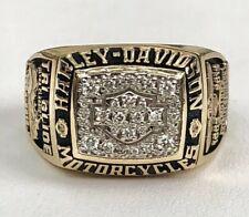Herren Harley-Davidson Diamant Shield 10K Gelbgold Ring 17.3 Gramm Größe 11.5