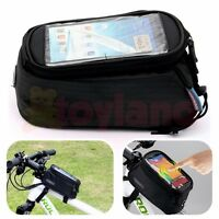 CYCLING BIKE MOBILE PHONE TOOL BAG POUCH BICYCLE FRAME iPHONE HOLDER PANNIER