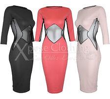 Viscose 3/4 Sleeve Textured Dresses for Women