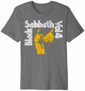 Black Sabbath Vol 4 Distressed Print T-shirt -Rock Band Ozzy Osbourne Music Tee