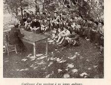 63 CHATEAU DE CLERLANDE ECOLE DES CADRES CONFERENCE MONITEUR IMAGE 1942 PRINT