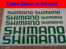 Shimano Bike Frame Vinyl Sticker Decals X8 Road or MTB CHOICE OF COLOURS