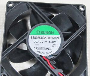1pc DC Fan SUNON EE80251S2-0000-999 80x80x25mm 12V 1.4W 37CFM 2pin Connector