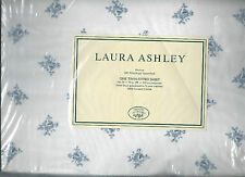 Laura Ashley Sophia Floral Twin Fitted Sheet White Blue New 1st Quality