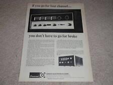 Sansui QUAD QS500,100 Amp Ad,1973,specs,article,RARE!