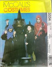 McCall's Witch and Ghoul Costume Sewing PATTERN FOR Kids Sizes 7-16