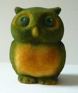 1970s USSR Estonian Vintage Polymer Toy Small Owl