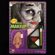 A973 Witch Make-Up Kit with Nose Face Paint Makeup Halloween Costume Accessory