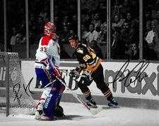 Mario Lemieux Patrick Roy Canadiens Penguins HOF Signed Photo Autograph Reprint