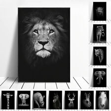 Black & White Wild Animal Wall Art Printed Canvas Painting-Interior Décor Poster