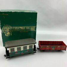 Rare Dept 56 Christmas Village Railroad Car Set No. 942
