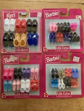 4 Brand New Sets Of Little Extras Shoes For Barbie and Ken NRFB - 1997
