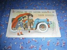 Old Postcard  1913 Pine City Minn  Comic If You'll Be Motor Maid I'll Be Sparker