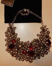 Joan Rivers Waterfall Necklace Beads Red Jewels New