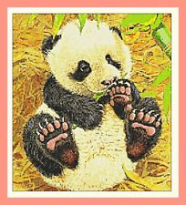 Panda Cross Stitch Chart 12.0 x 10.7 inches. CHART ONLY