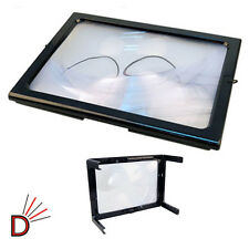 New Giant Magnifier Large Hands Free Magnifying Glass With LED Light For Reading
