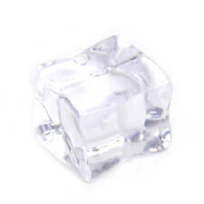 20pcs Fake Acrylic Ice Cubes Artificial Wedding Party Photography Display Clear 2cm