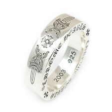 Authentic Chrome Hearts Spacer Ring 6mm DAGGER PLUS US8.5 Silver 925 Used F/S