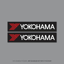 SKU2499 - 2 x Yokohama Decals Stickers - Race Rally Drift JDM - 150mm x 30mm