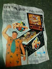 Williams THE FLINTSTONES Pinball flyer- good original