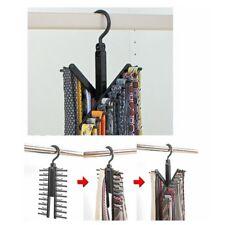 1Pc Tie Rack Organizer Hanger Holder Holds Rotating Hook Storage Cross Fashion