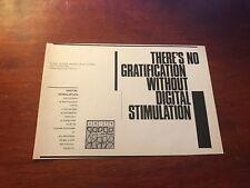1981 Vintage 5.5X8.25 Album Promo Print Ad for The Units Digital Stimulation