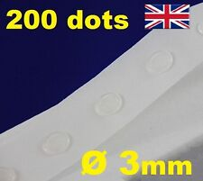 200 Glue Dots Sticky Craft Clear Card Making Scrap Removable 3mm EASY LOW TACK